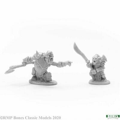Armored Goblin Leaders (2) - Bones - Reaper Miniatures