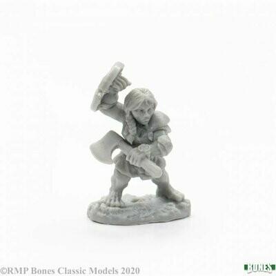 Dannin Deepaxe, Female Dwarf - Bones - Reaper Miniatures
