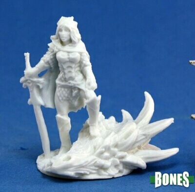 Janan, Female Dragon Slayer - Bones - Reaper Miniatures