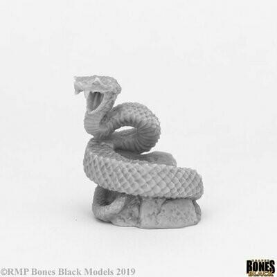 Giant Snake - Bones Black - Reaper Miniatures
