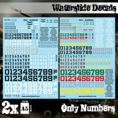 Waterslide Decals - Only Numbers - Decals - Greenstuff World