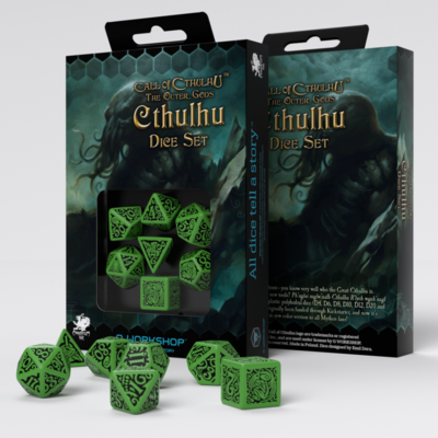 Call of Cthulhu: The Outher Gods Set Green/Black (7) - Q-Workshop