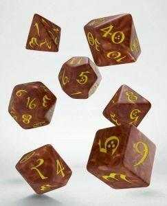 Classic RPG Würfel Set Karamel & Yellow (7) - Q-Workshop