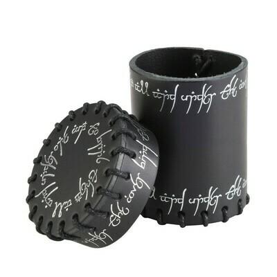 Elvish Black Leather Dice Cup - Würfelbecher