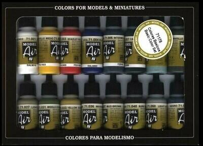 Model Air Set Basic Colors - Vallejo Model Color - Farbset