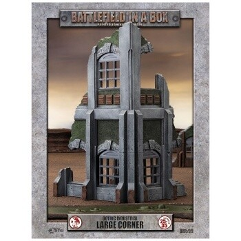 Battlefield In A Box - Gothic Industrial Ruins - Large Corner - 30mm