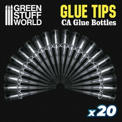 20x Glue Tips for Super Glue Bottles Super Glue Instant Glue - Greenstuff World