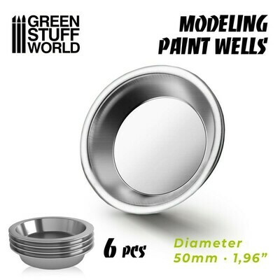 Modelling Paint Wells x6 - Greenstuff World