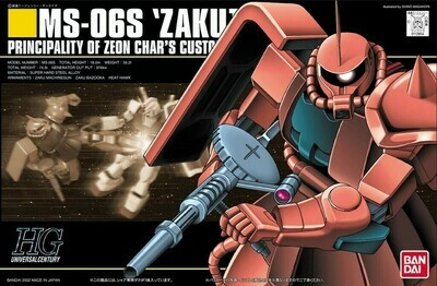 HGUC ZAKU MS-06S CHAR 1/144 - Bandai - Gunpla