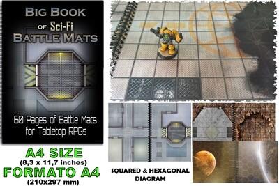 BIG BOOK OF SCI-FI BATTLE MATS (A4) - RPG