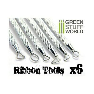 6x Mini Ribbon Sculpting Tool Set - Greenstuff World