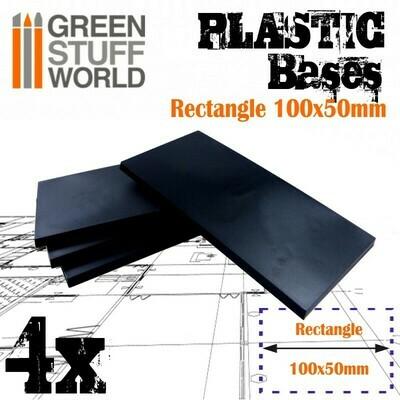 100x50mm Plastic Bases - Rectangle (4x)
