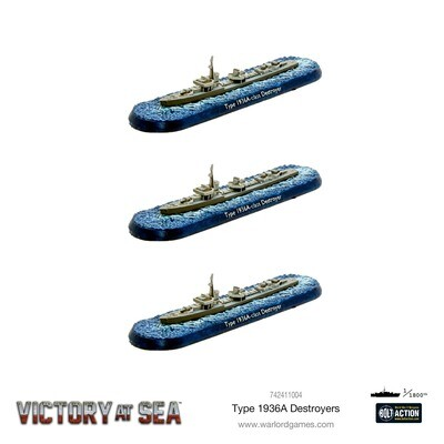 Victory at Sea - Type 1936A Destroyers - Warlord Games