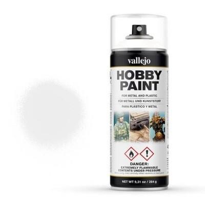 Vallejo Hobby Paint Spray Primer Premium White (400ml)