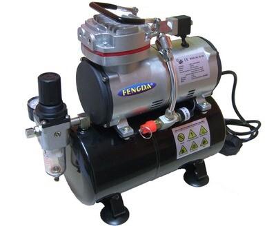 Airbrush Hobby Kompressor mit Druckbehälter Fengda® AS-189