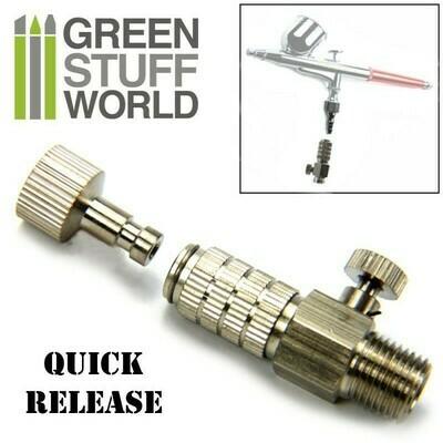 Schnellkupplung-Druckregler 1/8 Quick Release + Air Flow Control - Airbrush