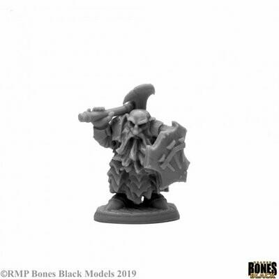 Dark Dwarf Cleaver - Bones - Reaper Miniatures