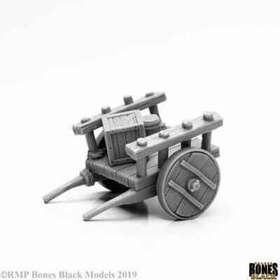 Cart Townsfolk Karren,Wagen - Bones Black - Reaper Miniatures