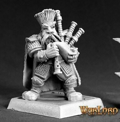 Dwarf Musician Zwergenmusiker - Warlord - Reaper Miniatures
