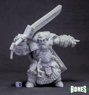 Skorg Ironskull, Fire Giant King (Huge) - Bones - Reaper Miniatures