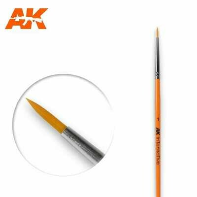 1 Round Brush. Synthetic - AK Interactive