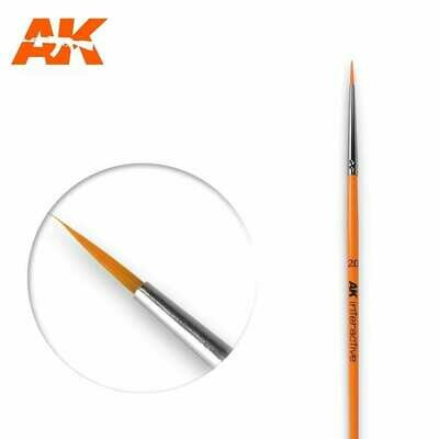 2/0 Round Brush. Synthetic - AK Interactive