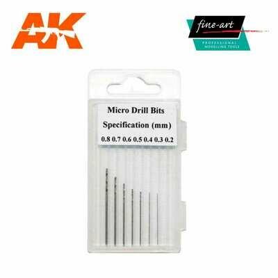 Modellers Drills 0.2 – 0.8mm - AK Interactive