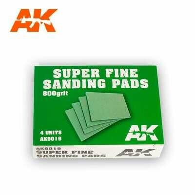 SUPER FINE SANDING PADS 800 GRIT. 4 UNITS. - AK Interactive