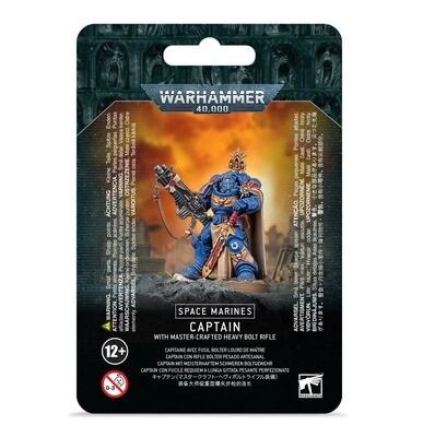 Captain mit Meisterhaftem Schwerem Boltgewehr Master-Crafted Heavy Bolt Rifle - Space Marines - Warhammer 40.000 - Games Workshop