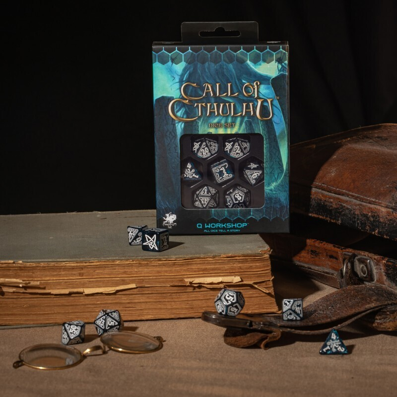 Call of Cthulhu Abyssal & white Dice Set (7) - Q-Workshop