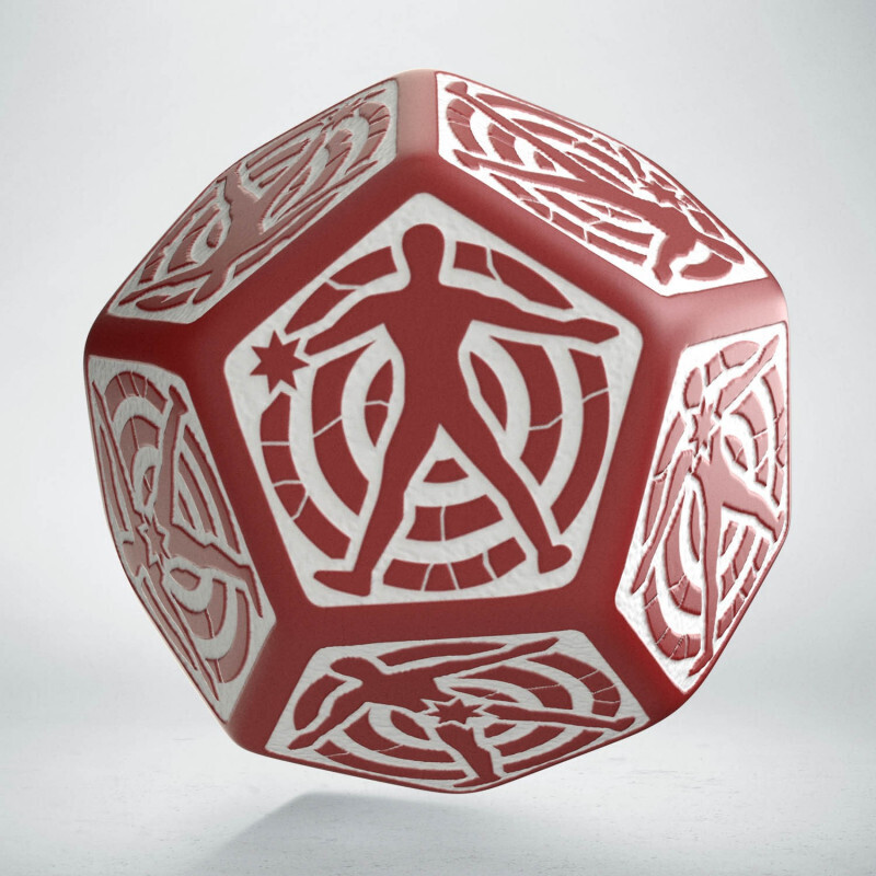 D12 Red & white Hit Location die (1) - Q-Workshop