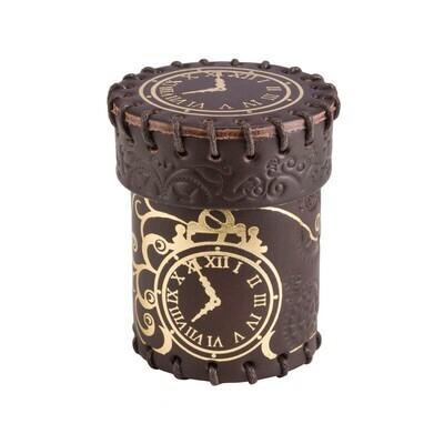 Steampunk Brown & golden Leather Dice Cup - Würfelbecher