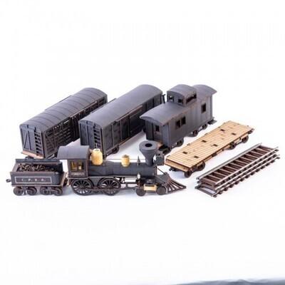 19th C. American Freight Train Set (Black) - 4Ground
