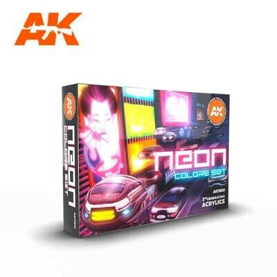 NEON COLORS SET-(3rd-Generation)-(6x17mL) - AK Interactive