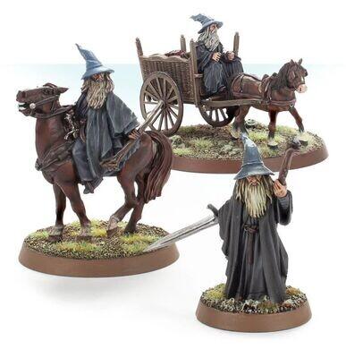 MO: Gandalf der Graue zu Fuß, beritten und auf Karren - Lord of the Rings LotR - Games Workshop