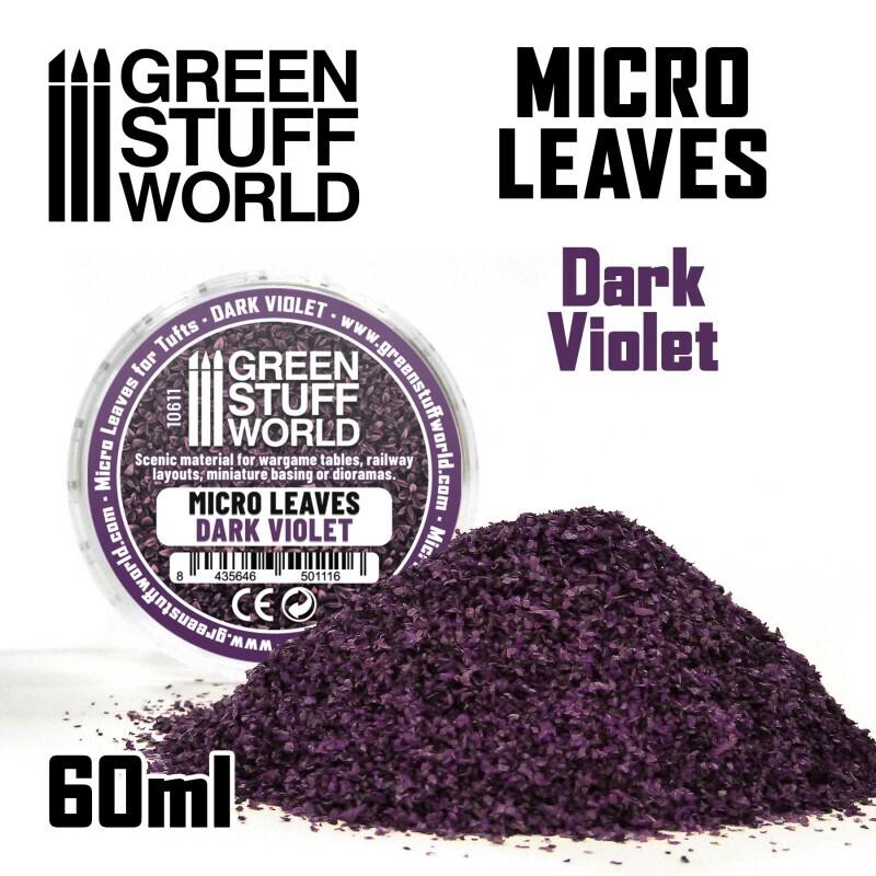 MIKROBLÄTTER - Dunkelviolett-Mix Micro Leaves Dark Violet - Greenstuff World