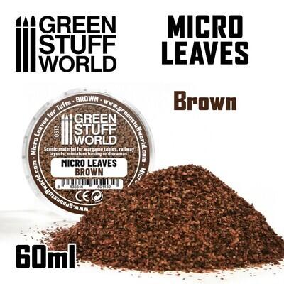 MIKROBLÄTTER - braun Mix Micro Leaves Brown - Greenstuff World