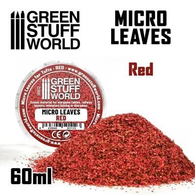 MIKROBLÄTTER - rot Micro Leaves Red - Greenstuff World