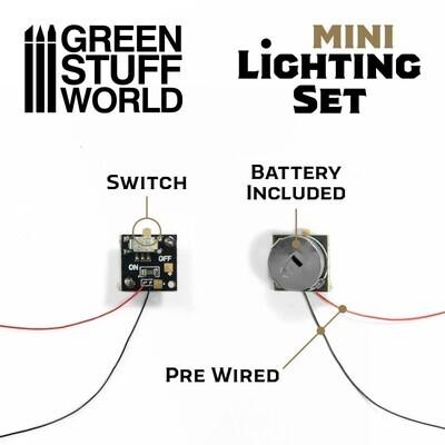 Mini-Beleuchtungsset Mit Schalter und CR927-Batterie - Greenstuff World