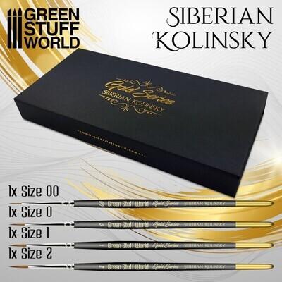 Premium GOLD SERIES Sibirischer Kolinsky Pinselset - Greenstuff World