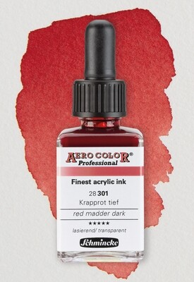 SCHMINCKE AERO COLOR® Professional Acrylic Ink - Krapprot Transparent