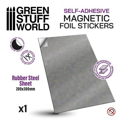 Magnetic Foil Stickers - Selbstklebende Stahl-Gummi Folien - Rund 25mm - Greenstuff World