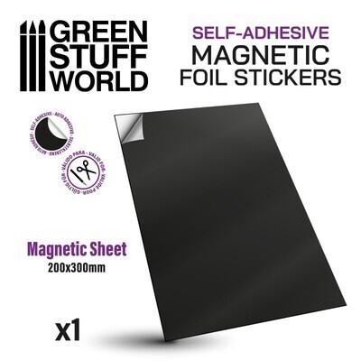 Selbstklebende Magnetfolie Magnetic Foil Sticker - Rund 25mm - Greenstuff World