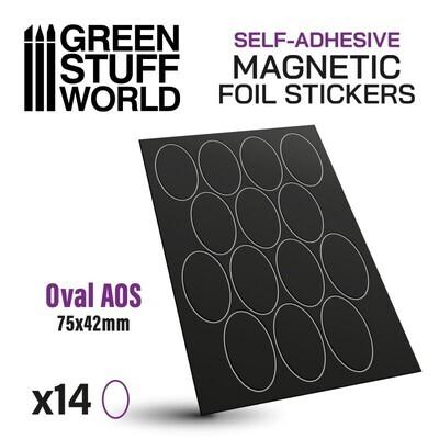 Magnetic Foil Stickers - Vorgeschnittene Magnetfolie - Oval 75x42mm - Greenstuff World