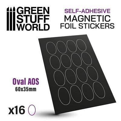 Magnetic Foil Stickers - Vorgeschnittene Magnetfolie - Oval 60x35mm - Greenstuff World