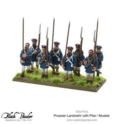 Napoleonic Wars: Prussian Landwehr with Pike / Musket 1789-1815 - Black Powder - Warlord Games
