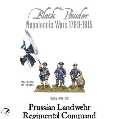 Prussian Landwehr Regimental Command - Black Powder - Warlord Games