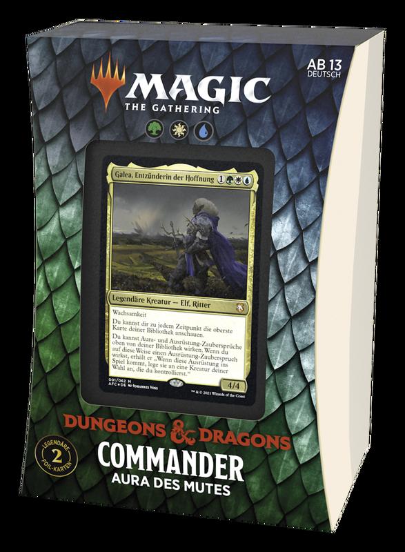 MTG - Abenteuer in den Forgotten Realms Commander Aura des Mutes (Deutsch) - Magic