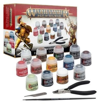 AOS PAINTS+TOOLS GER/CH/ITA/DUT/CZE/SLV Paint Set - Warhammer Age of Sigmar - Games Workshop