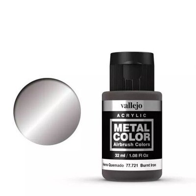 Vallejo Metal Color 721 Burnt Iron 32 ml.